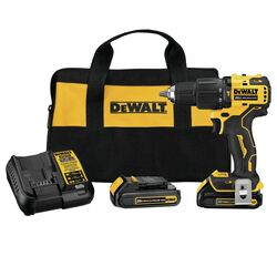 DeWalt  Atomic  20 volt 1/2 in. Brushless  Cordless Compact Hammer Drill/Driver  Kit (Battery & Char