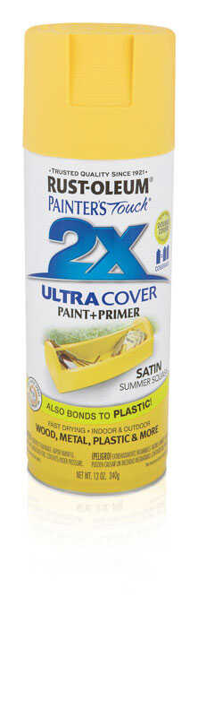 Rust-Oleum  Painters Touch Ultra Cover  Satin  Summer Squash  Spray Paint  12 oz.
