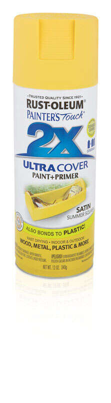 Rust-Oleum  Painters Touch Ultra Cover  Satin  Summer Squash  12 oz. Spray Paint