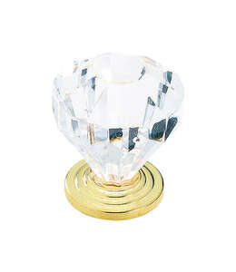 Amerock  Traditional Classics  Octagonal  Cabinet Knob  1-1/4 in. Dia. 1-3/8 in. Burnished Brass  1
