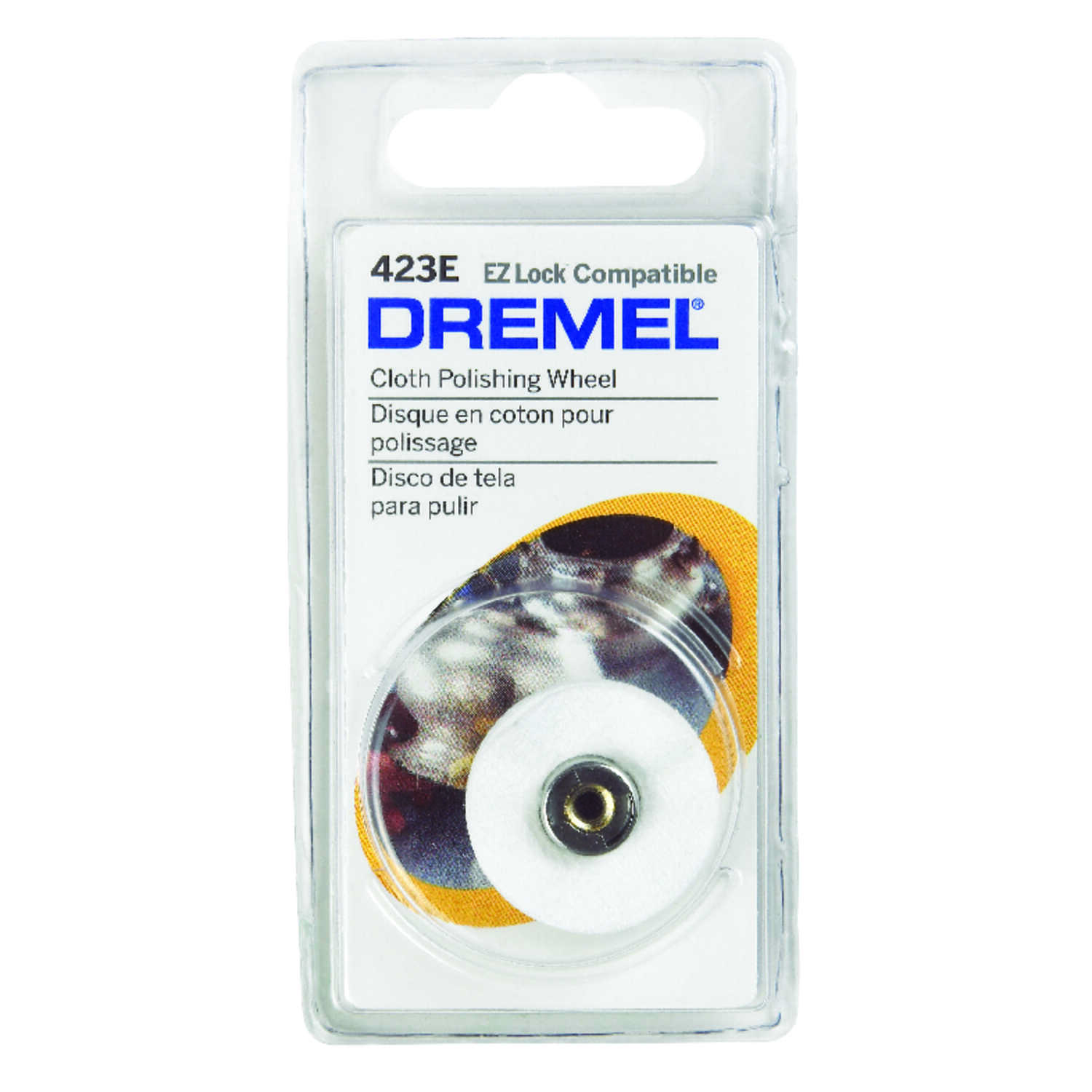 Dremel  1 in   x 1 in. L x 1 in. Dia. Steel  1 pk Polishing Wheel