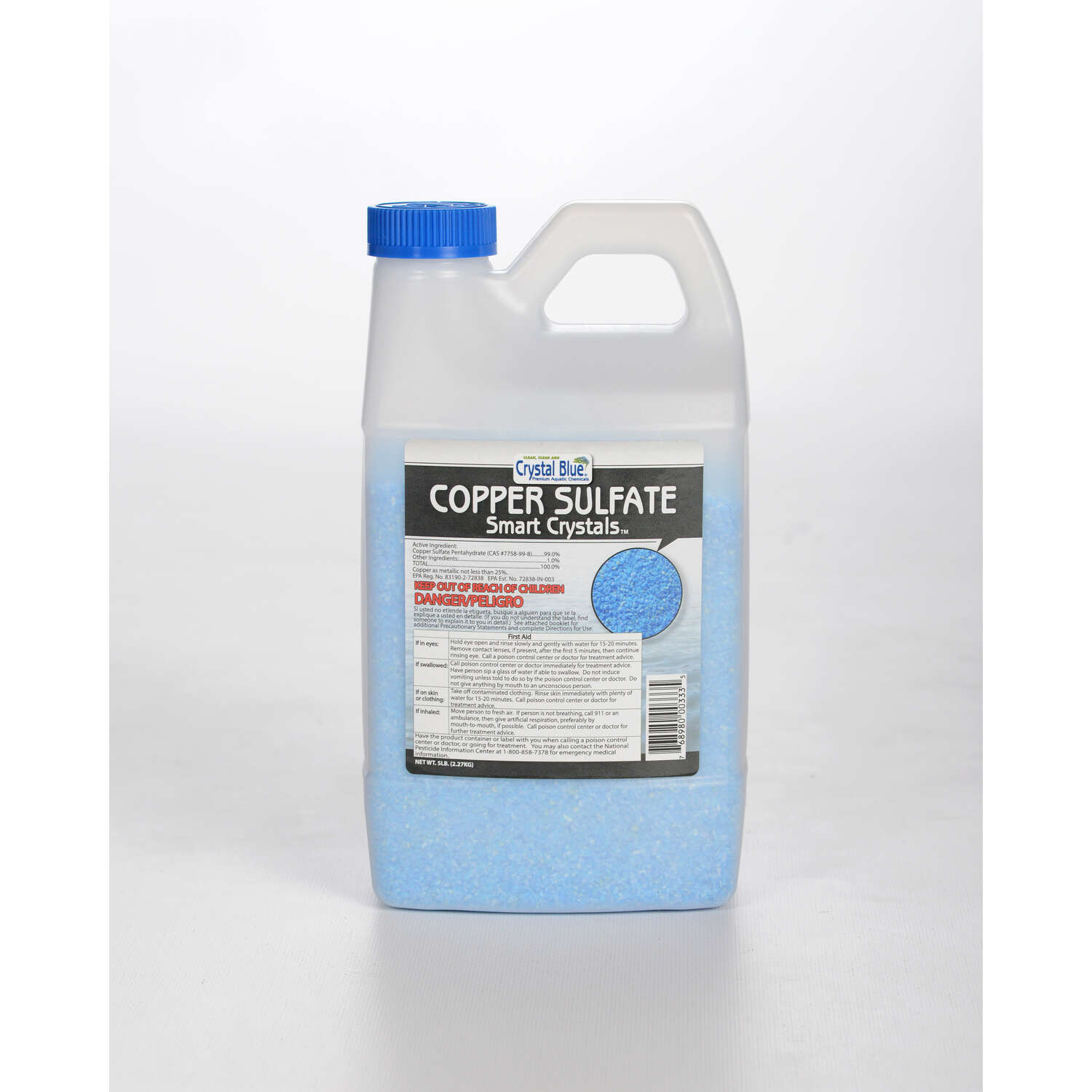 Crystal Blue  Smart Crystals  Copper Sulfate  5 oz.