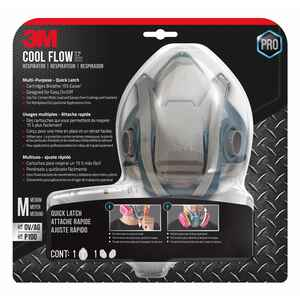 3M  P100  Multi-Purpose  Half Face Respirator  Blue  M  1 pc.