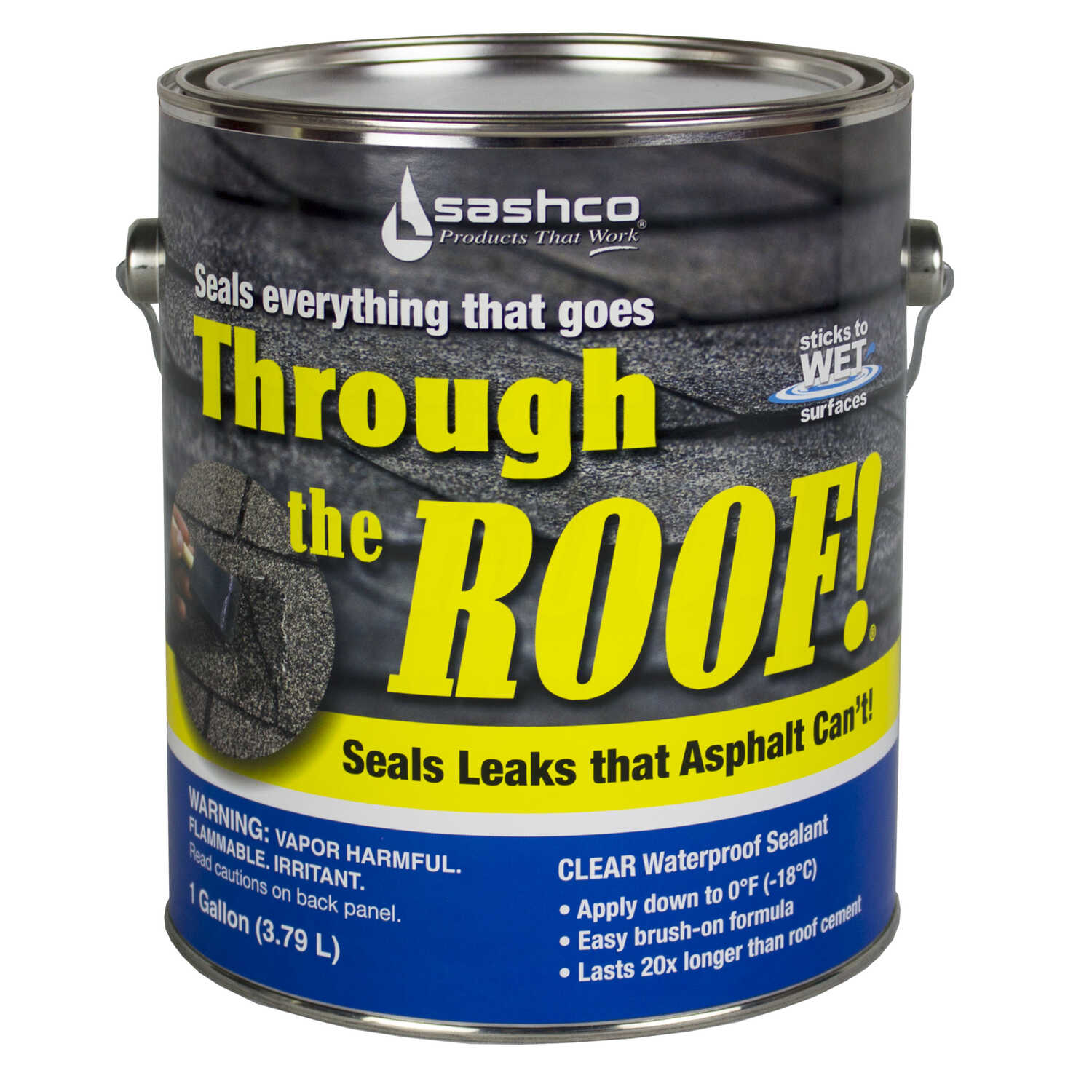 Sashco  Through The Roof  Clear  Elastomeric  Roof Sealant  1 gal.