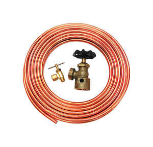 Dial  1/4 in. H x 1/4 in. W Rubber  Orange  Copper Tube Hook-Up Kit