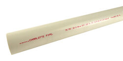 Charlotte Pipe  Schedule 40  PVC  Pipe  1/2 in. Dia. x 5 ft. L Plain End  600 psi