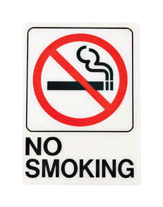 Hy-Ko  English  7 in. H x 5 in. W Sign  Plastic  No Smoking