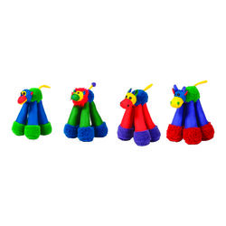 Chomper  Assorted  Doggy Long Leg  Nylon  Dog Toy  Large