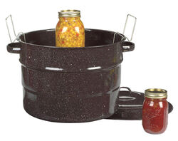 Columbian Home Granite Ware Wide Mouth Canner with Jar Rack 21.5 qt. 1 pk
