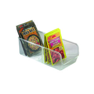 InterDesign  3-1/2 in. H x 5 in. W x 10-1/2 in. L Clear  Spice Organizer
