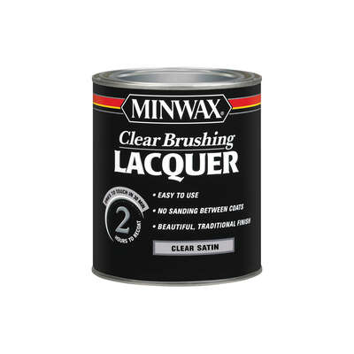 Minwax  Satin  Clear  Brushing Lacquer  1 qt.