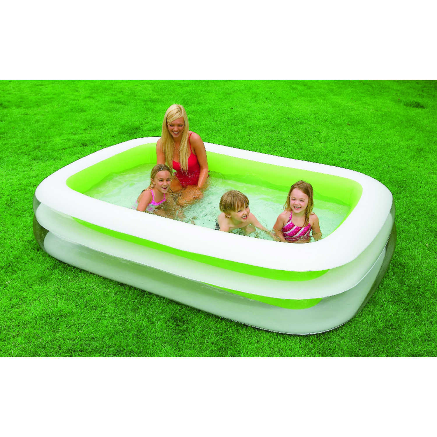 Intex  Swim Center Family  198 gal. Rectangular  Plastic  Inflatable Pool  22 in. H x 69 in. W x 103