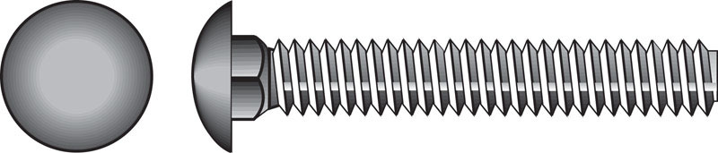 HILLMAN  1/4  Dia. x 2-1/2 in. L Zinc-Plated  Steel  Carriage Bolt  100 pk