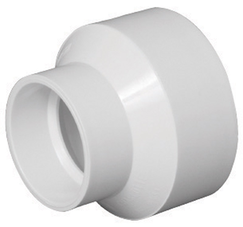 Charlotte Pipe  Schedule 40  2 in. Hub   x 3 in. Dia. Hub  PVC  Reducing Coupling