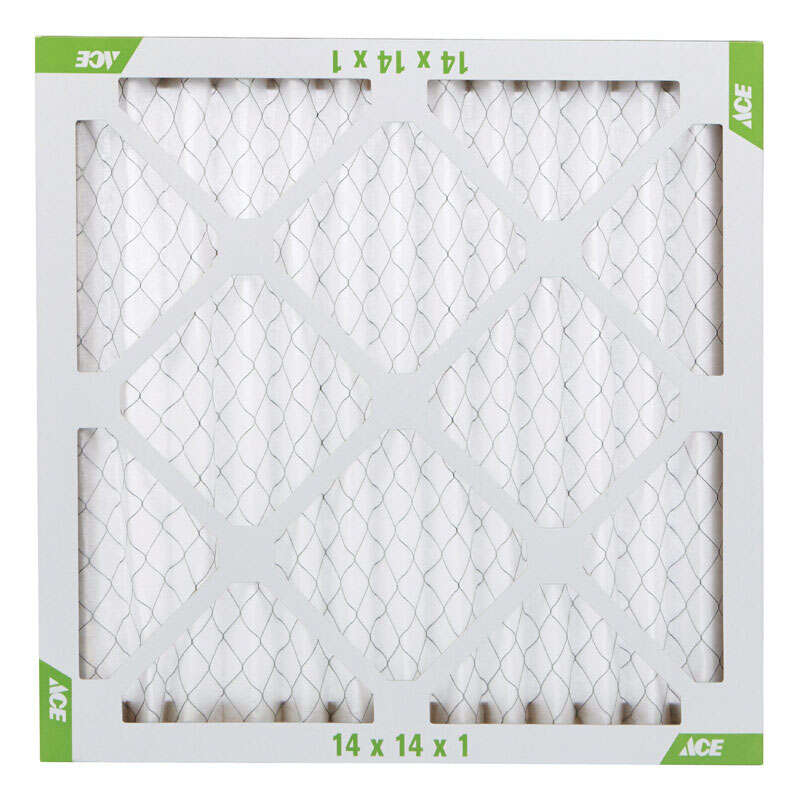 Ace  14 in. H x 14 in. W x 1 in. D Pleated  Air Filter