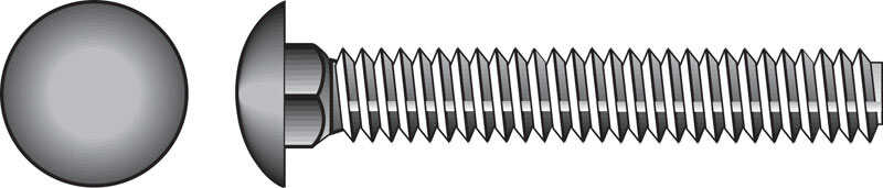 Hillman  1/2 in. Dia. x 8 in. L Zinc-Plated  Steel  Carriage Bolt  25 pk