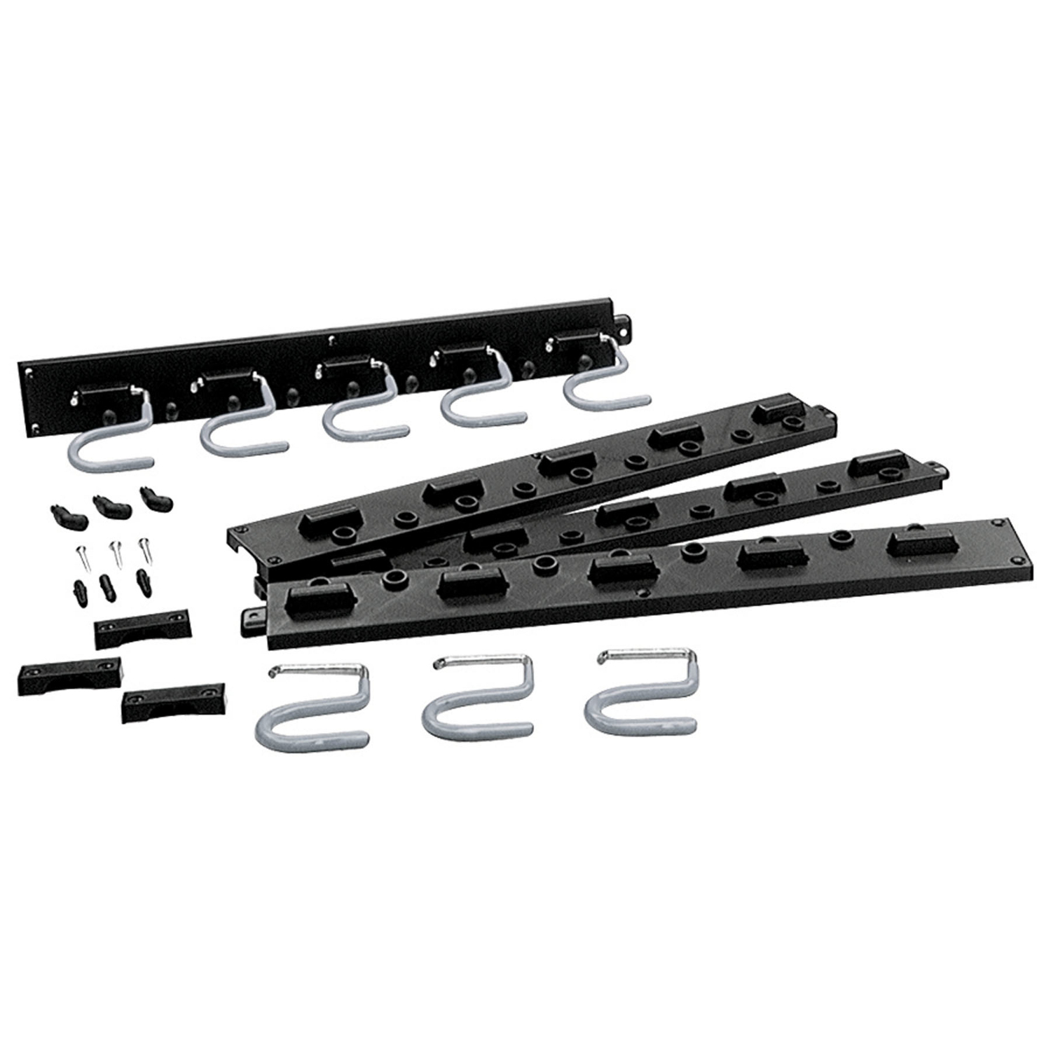 Crawford  64 in. D Plastic  12 lb. capacity 1 pk Black  Rack