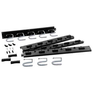 Crawford  Black  Plastic  Rack  12 lb. capacity 1 pk
