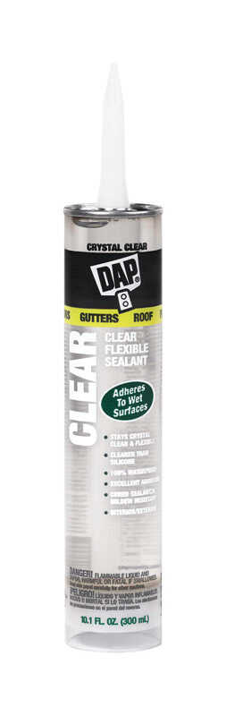 DAP  Crystal Clear  Polymer/Resin  Sealant  10.1 oz.