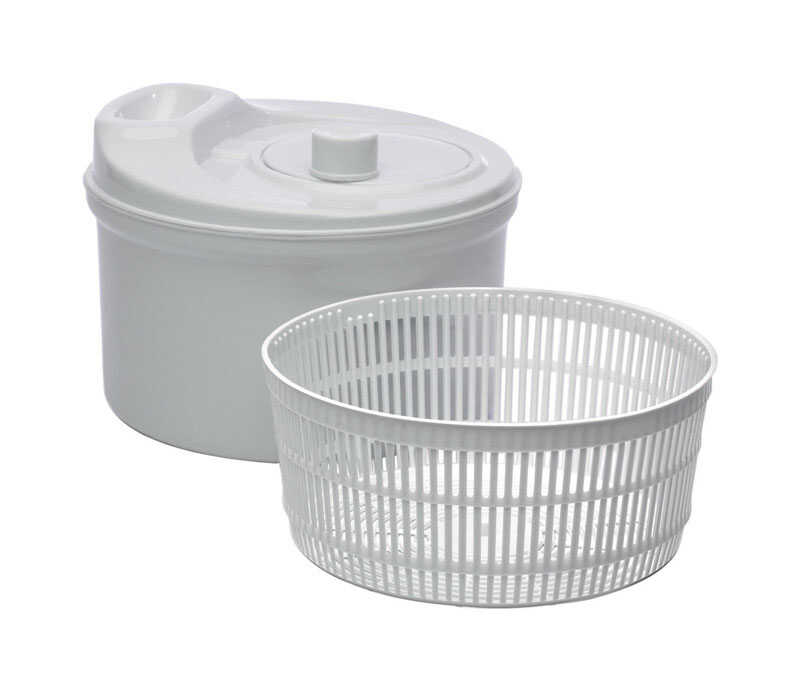 Progressive  Prepworks  9-1/2 in. W x 6-1/2 in. L Gray  Salad Spinner