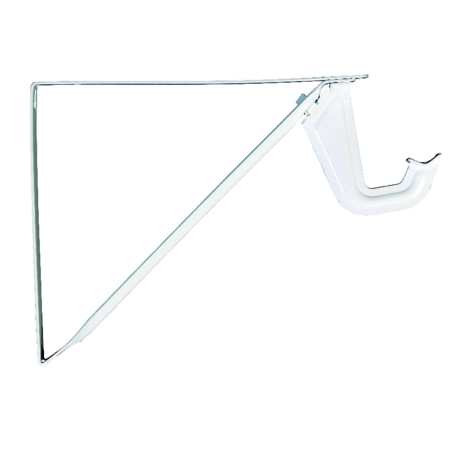 Knape & Vogt  John Sterling  White  Steel  Shelf/Rod  Bracket  9 in. H x 10.25 in. L 250 lb.