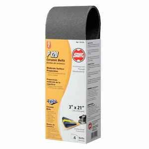 Shopsmith  21 in. L x 3 in. W Ceramic  Sanding Belt  120 Grit Fine  4 pc.