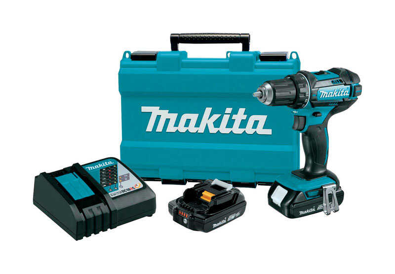 Makita  LXT  18 volt 1/2 in. Cordless Compact Drill/Driver  Kit 1900 rpm 2 speed