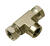 Apache  1/2 in. Dia. x 1/2 in. Dia. T-Hydraulic Adapter  1 pk