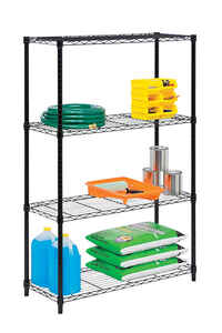 Honey Can Do  14 in. W x 36 in. D x 54 in. H Steel  Shelving Unit