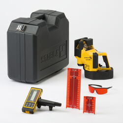 STABILA  3 beam Self Leveling LA 180L  Laser Level Kit  300 ft. 5 pc.