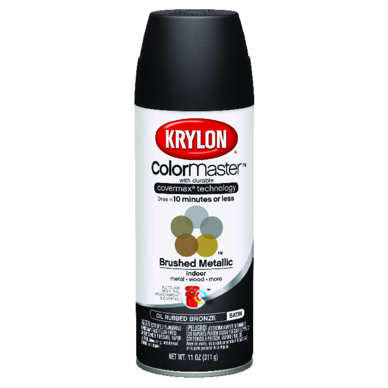 Krylon  ColorMaster  Matte  Oil Rubbed Bronze  11 oz. Metallic Spray Paint