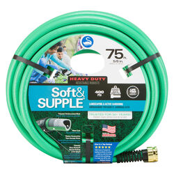 Swan Soft&SUPPLE 5/8 in. Dia. x 75 ft. L Premium Grade Green PVC Garden Hose