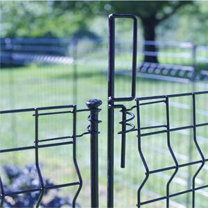 Origin Point Brand  44 in. H x 1.8 ft. L Latching  Steel  Fence Post  Black