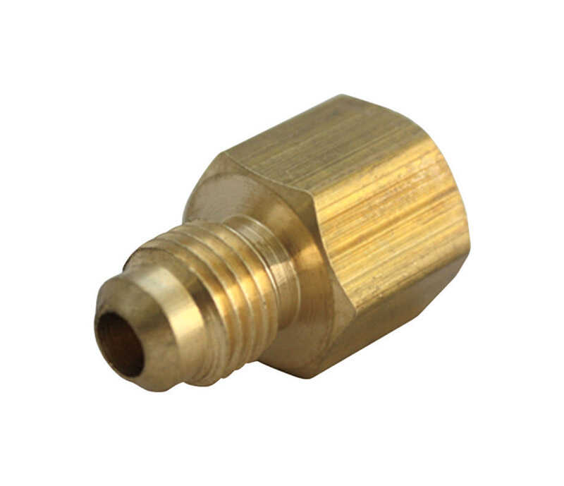 B & K  5/8 in. Flare   x 1/2 in. Dia. Female  Brass  Flare Adapter