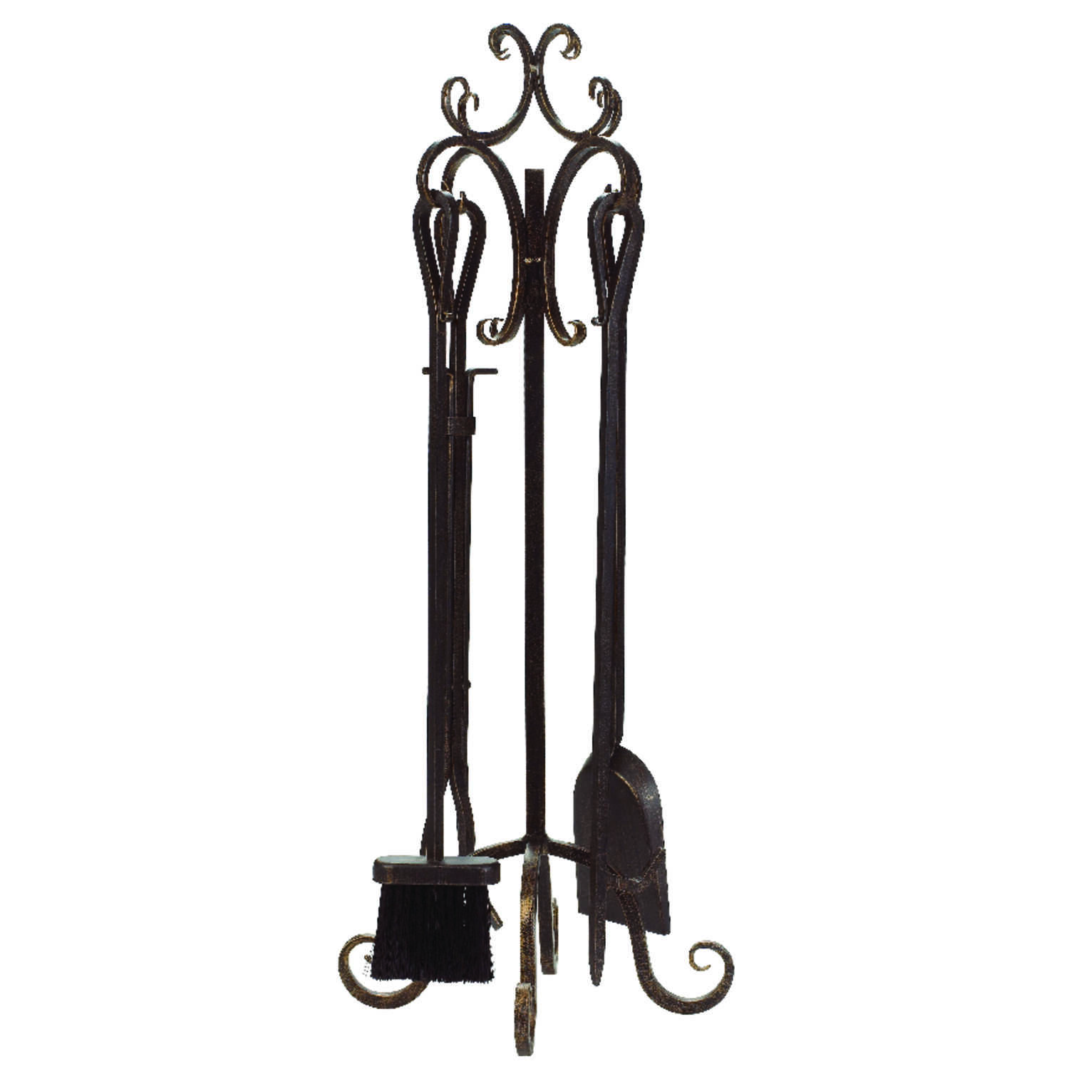 Panacea  Brown  Brushed  Fireplace Tool Set  Steel