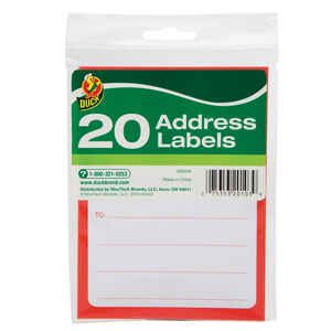 Duck  3-1/2 in. W x 4-1/2  L Address Labels