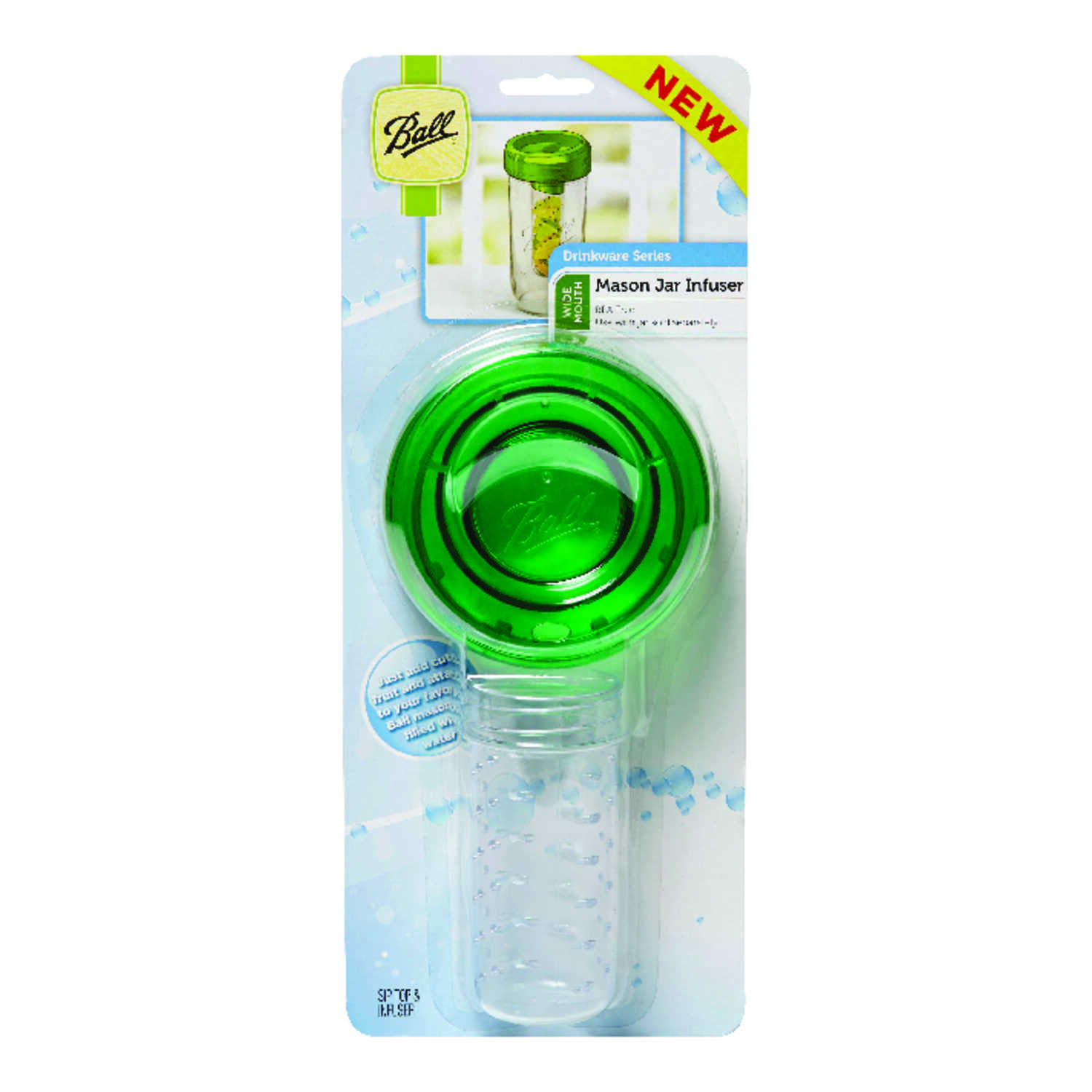 Ball  Regular Mouth  Jar Infuser  1 pk