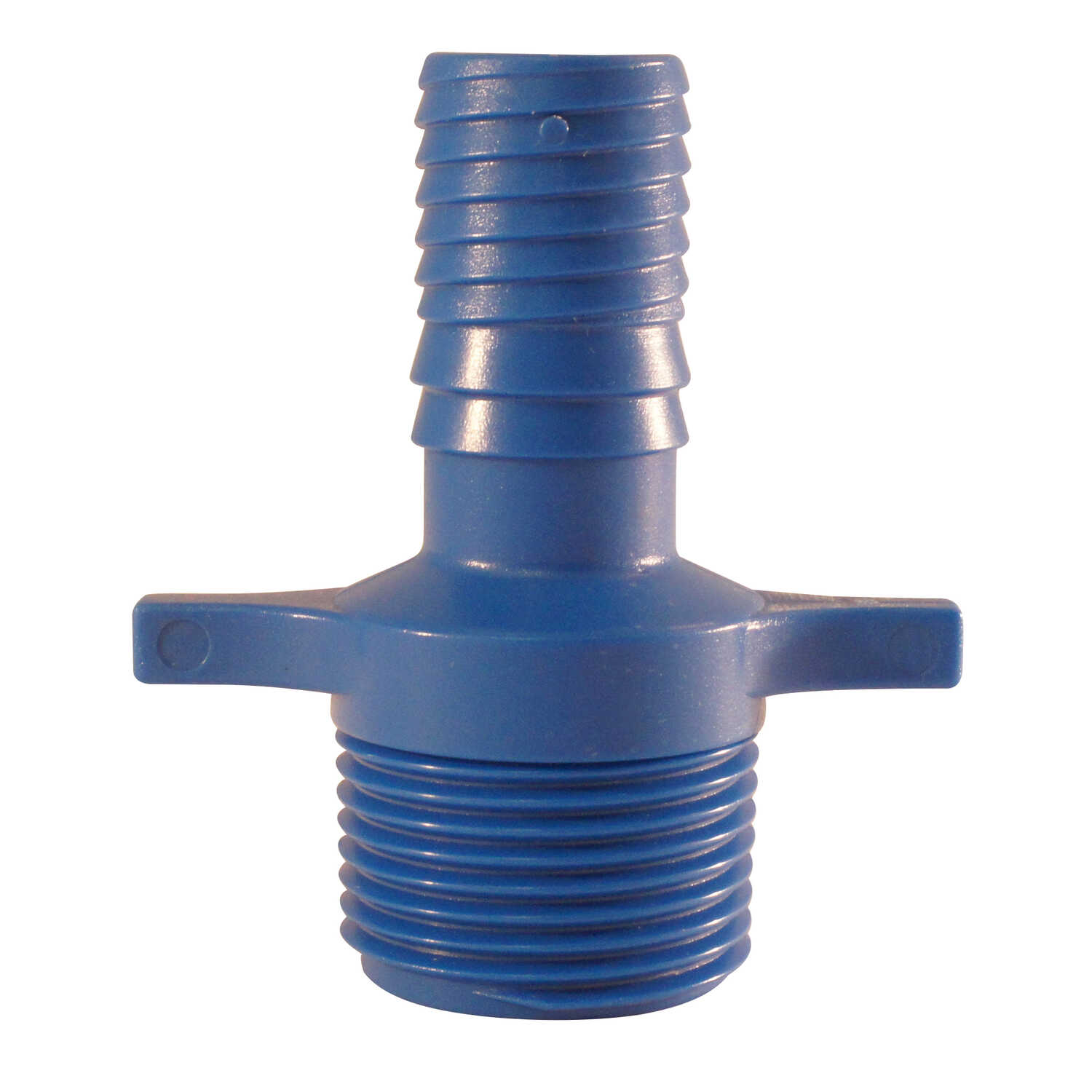 Blue Twisters  3/4 in. Insert   x 3/4 in. Dia. MPT  Polypropylene  Elbow