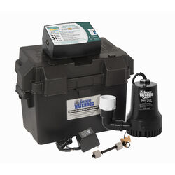 Basement Watchdog  3/10 hp 2,600 gal. Thermoplastic  Dual Reed  Battery  Backup Sump Pump
