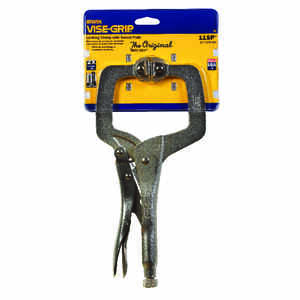 Irwin  Vise-Grip  3-3/8 in.  x 2-5/8 in. D Steel  Locking  C-Clamp with Swivel Pads  1000 lb. capaci
