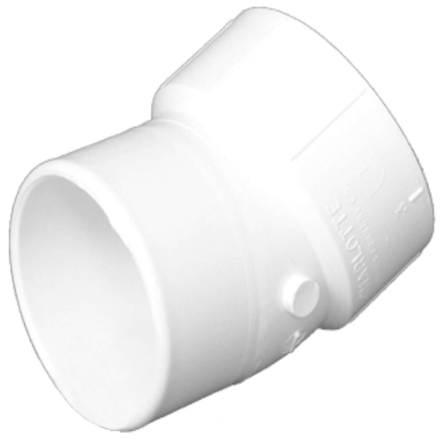 Charlotte Pipe  Schedule 40  4 in. Hub   x 4 in. Dia. Spigot  PVC  22-1/2 Degree Street Elbow