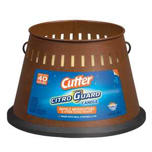 Cutter  Citro Guard  Candle  Solid  For Flying Insects 20 oz.