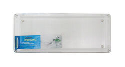 InterDesign  Linus  2 in. H x 6 in. W x 15 in. L Clear  Plastic  Drawer Organizer