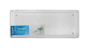 InterDesign  2 in. H x 6 in. W x 15 in. L Clear  Plastic  Drawer Organizer