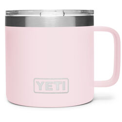 YETI Rambler 14 oz. Ice Pink BPA Free Mug with Lid