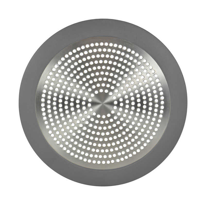 Danco  5-3/4 in. Dia. Shower Drain Strainer  Brushed Nickel  Stainless Steel