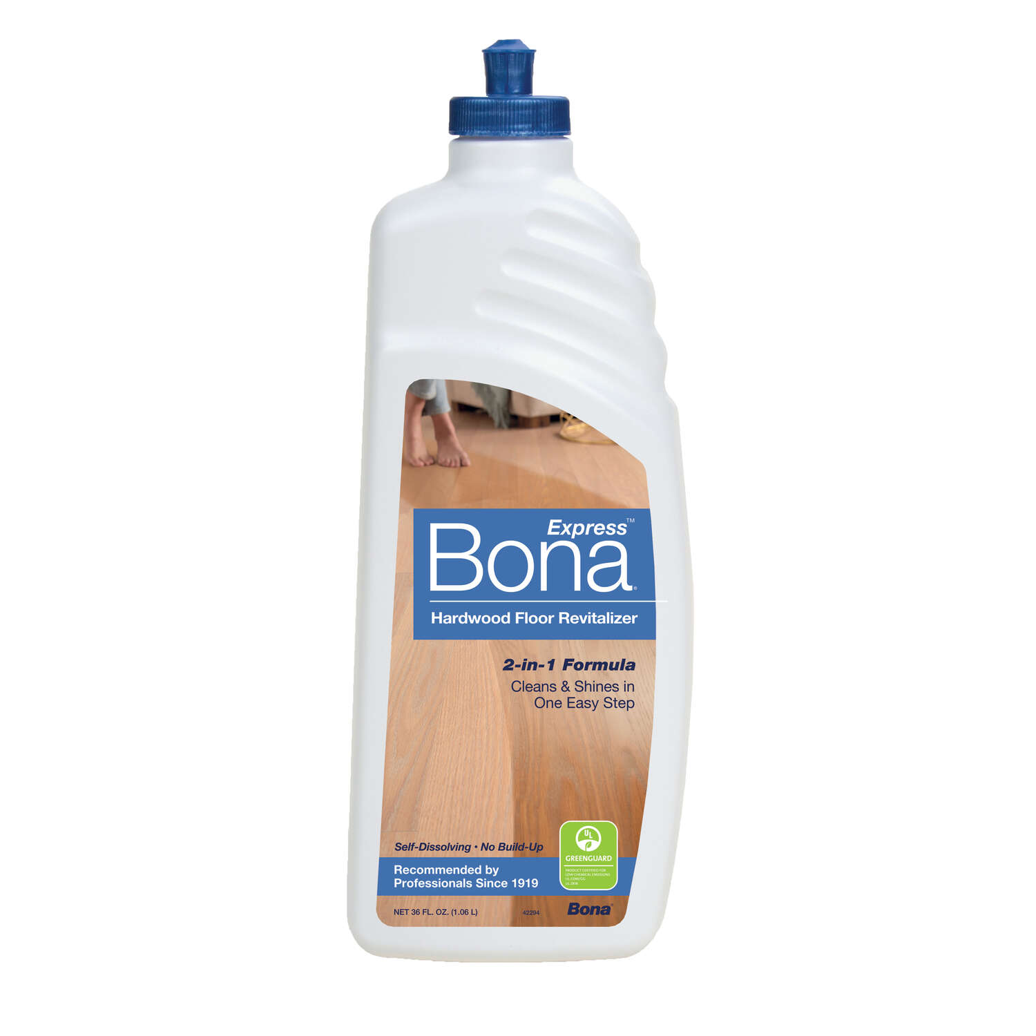Bona Express No Scent Floor Cleaner and Restorer Liquid 36 oz.