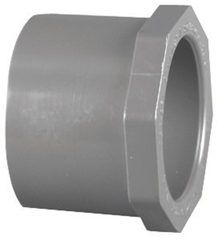 Charlotte Pipe  Schedule 80  1-1/4 in. Spigot   x 3/4 in. Dia. Slip  PVC  Reducing Bushing
