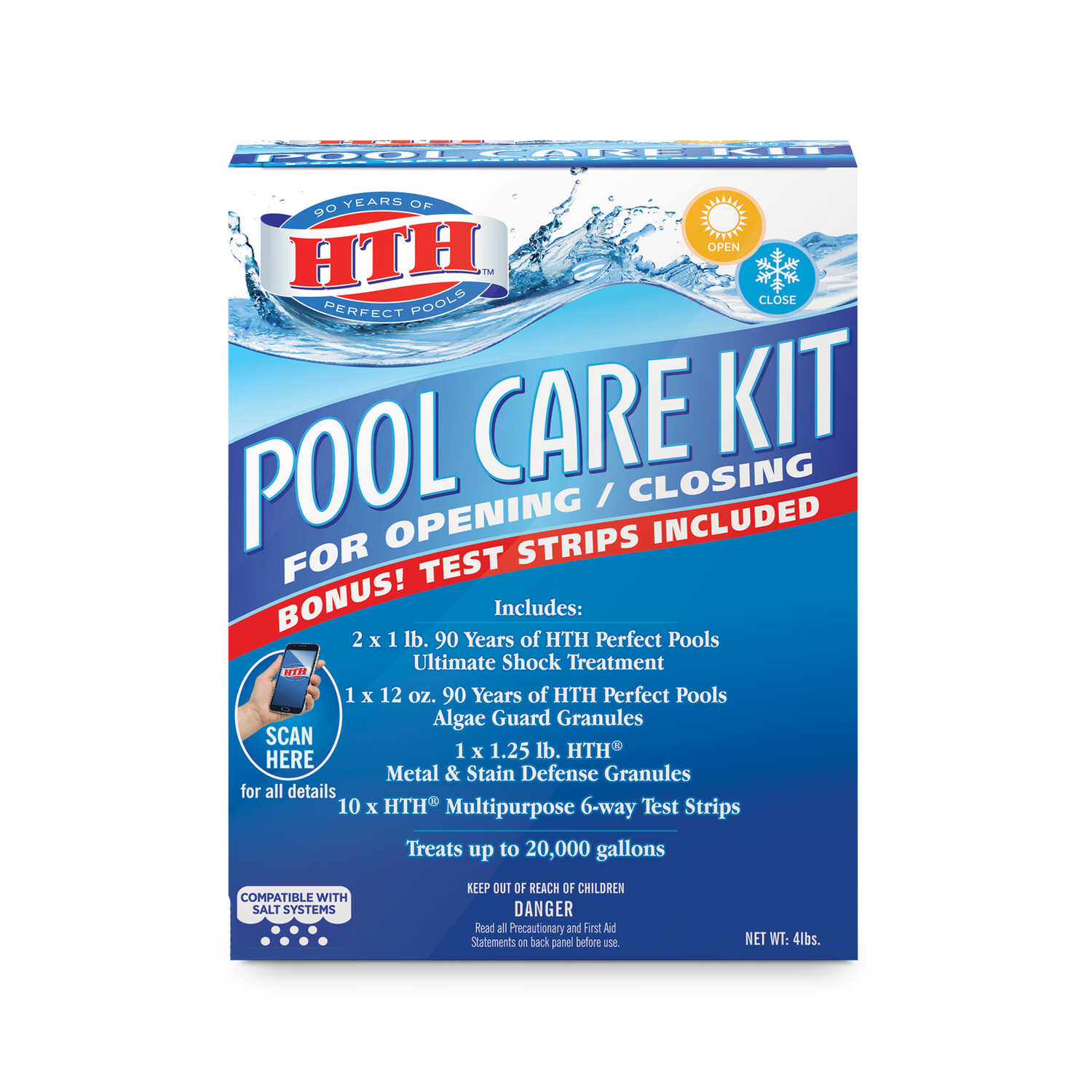 hth  Pool Care Kit  5 lb.