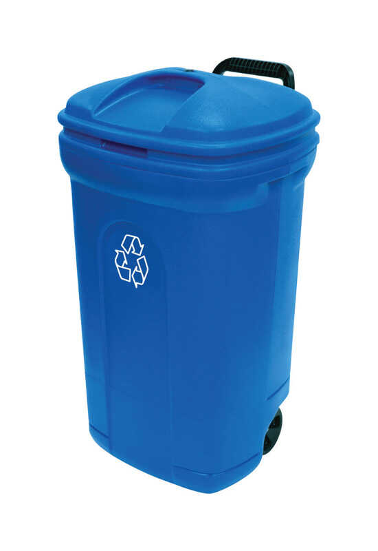 United Solutions  34 gal. Plastic  Recycling Bin
